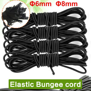 5 metres 8mm WHITE Bungee Shock Cord Rope for Trailer Covers Tie Down