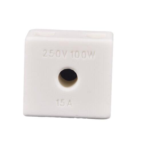 5X 2H5W 15A 100W 250V 2 Way 5 Hole Connector Porcelain Ceramic Terminal Block UQ