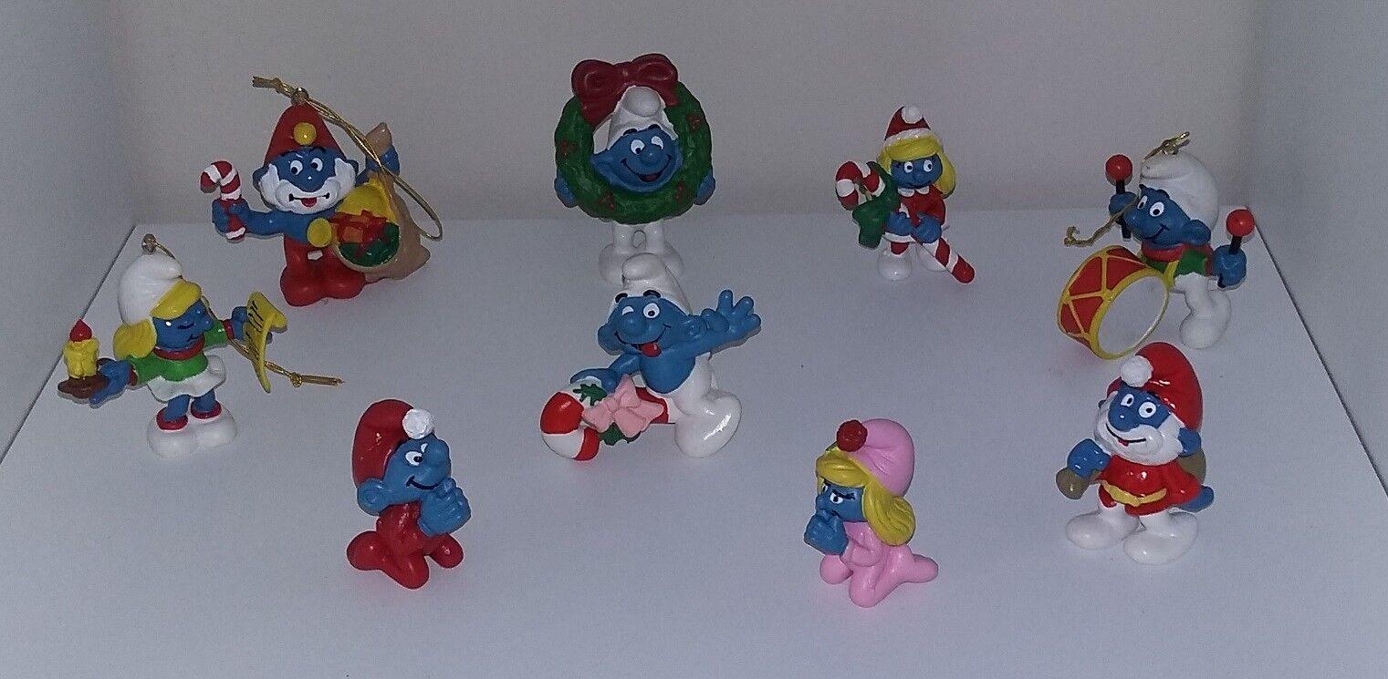 SCHTROUMPF Schleich - Lot de 9 Figurines de NOEL - NEUF (Smurf Pitufo Schlumpf)