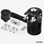 Polish Baffled Black Aluminum Oil Catch Can Reservoir Tank With Breather Filter