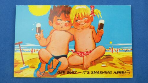 Bamforth Comic Postcard 1960s Choc Ice Cream Lolly Ices Beach Kiddy G457