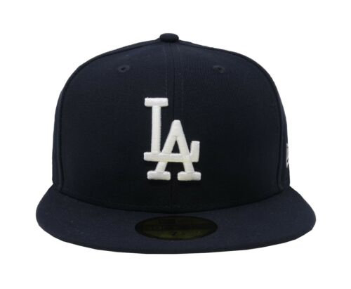 New Era 59Fifty Hat MLB Los Angeles Dodgers Mens Blue Custom Fitted 5950 Cap