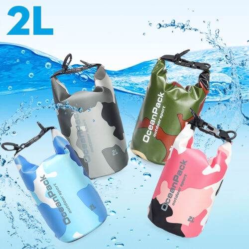 2L PVC Waterproof Dry Bag Sack Pouch For Canoe Floating Boating Kayaking Camping