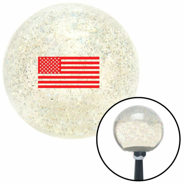 White Red Eyes American Shifter 71948 Black Metal Flake Shift Knob with M16 x 1.5 Insert