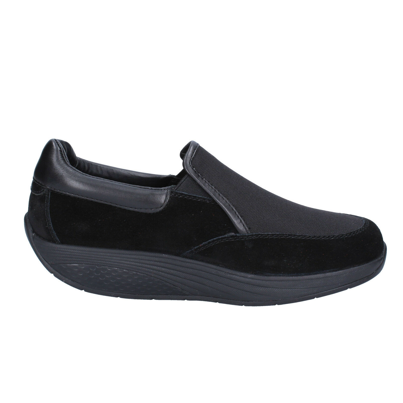 Scarpe donna MBT 38 EU slip on performance mocassini nero pelle camoscio performance on BT99-38 80728d