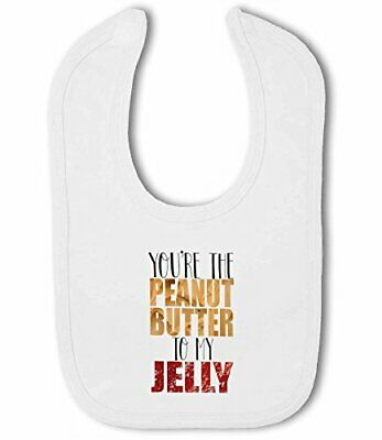 Baby Bib Youre the Peanut Butter to my Jelly cute funny food