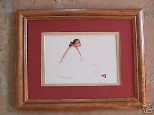 R-C-Gorman-Willow-Framed-matted-Navajo-print