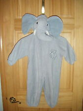 Unisex Infants Wal-Mart Stores, Inc Elephant Halloween  Zip Jumpsuit Sz 18 -24 m