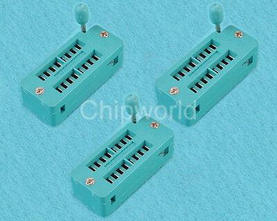 3PCS IC Socket Test Socket Universal Socket ZIF 16 Pins 16-pin