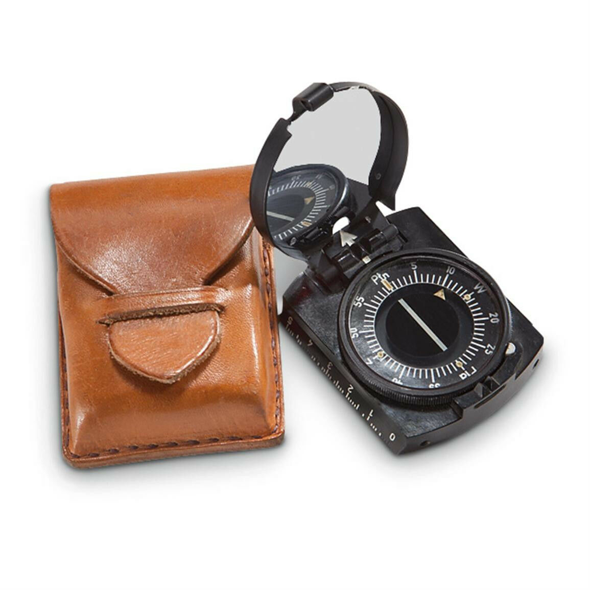 Genuine Polish Army Military Compass Warsaw Pact w  leather  pouch  factory outlets