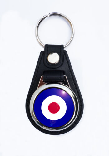 NO.1 SCOOTER KEYRING MOD TARGET FAUX LEATHER KEY RING//KEY FOB