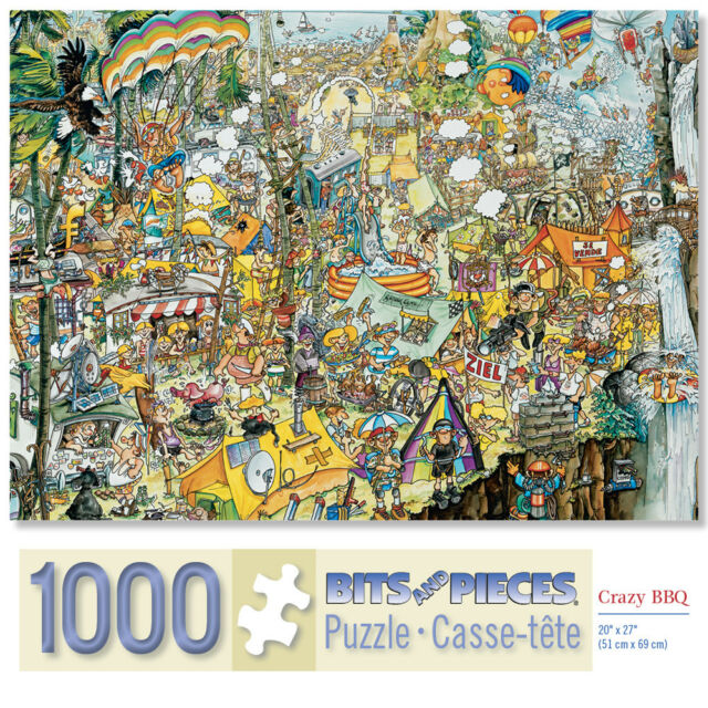 Bits and Pieces 1000 PC Jigsaw Puzzles Crazy BBQ & Scarborough Fair