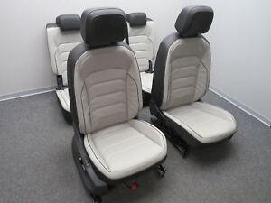 Séance aménagement intérieur sièges en cuir cuir noir gris Tiguan II ...