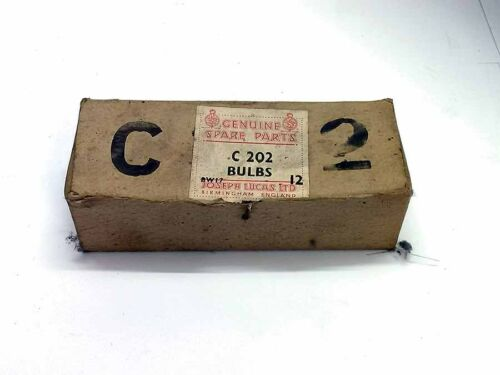 Lucas C202 6 volt x 1.8watt single filament bayonet type bulb Genuine Box of 12