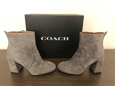 NEW Coach Farrah Suede Heeled, Ankle