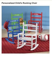 Personalized Child's Rocking Chair Solid Hardwood Name Ava Color Red, Reg. $50+