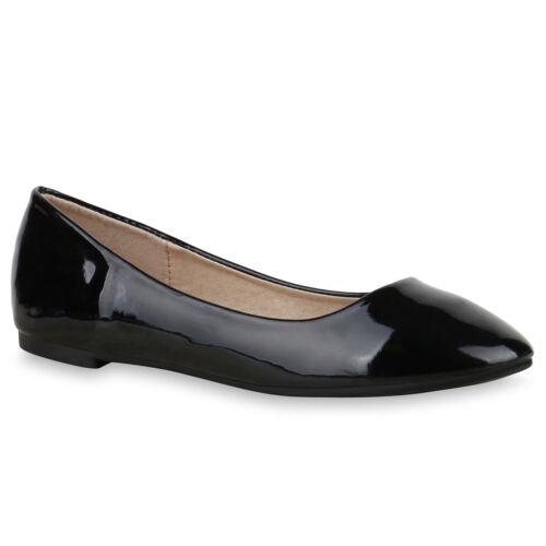 36-41 Mode Bequeme Damen Ballerinas Slipper 70944 Flats Leder-Optik Schuhe Gr