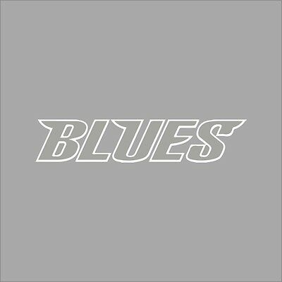 St louis blues 5 nhl team logo 1color vinyl decal sticker car window wall