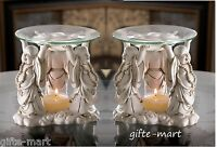 8 Wholesale Lot Happy Fat Lucky White Buddha Statue Oil Warmer Candle Holder