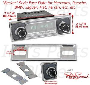 Details about Fits RetroSound Radio ONLY-Face Plate&Knobs-Pinstripe Becker  STYLE 308-509-39-78