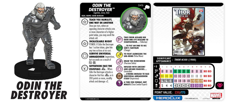 Odin el Destructor 041B Prime The Mighty Thor Marvel Heroclix Raro