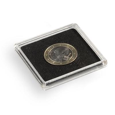 Pack of 10 Square Coin Capsules QUADRUM inner diameter 40 mm LTH QUADRUM40