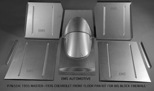Chevrolet Front Floor Pan Kit For Big Block Firewall 1935 Master /& 1936 All