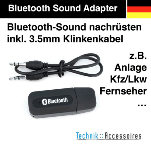 Bluetooth USB adaptador receptor Stick audio música receiver aux en coche camión para coche