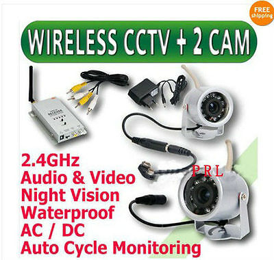 2.4GHz Wireless Home Surveillance CCTV Camera Day/Night Security system 4CAMES