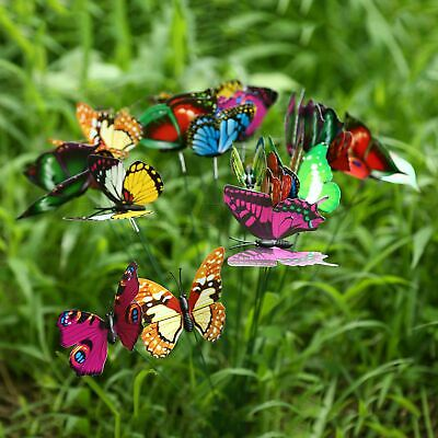 Butterflie Stakes Garden Dragonflies Ornaments On Stick For Outdoor Durable New