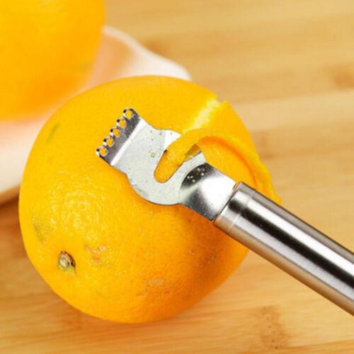 New Lemon Lime Orange Fruit Citrus Zester Peeler Kitchen Craft Stainless Steel