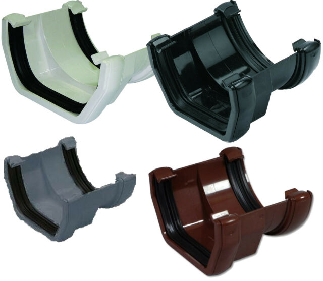 Brown 114mm Square To 112mm Half Round Gutter Adapter Floplast Gutter Downpipe For Sale Ebay