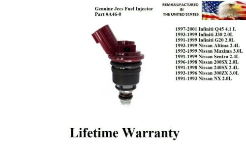 Genuine Jecs single Fuel Injector for 1991-1998 Nissan 240SX 2.4L