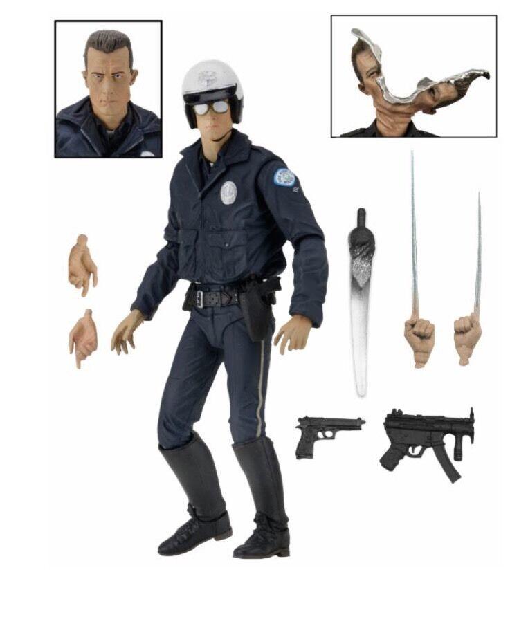 Terminator 2 T-1000 Motorbike Cop Official 7  Ultimate Figure W Accessories NECA
