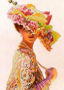 Perlenstickbild Lady Stickbild Stickvorlagen stick Perlen Stickpackung Kompl 78