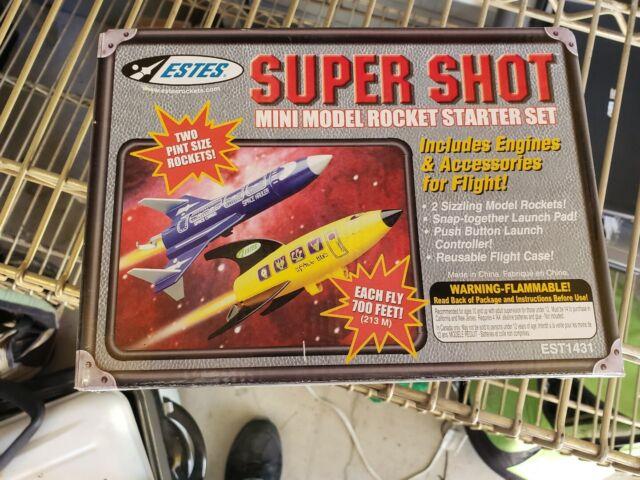 2002 Estes Super Shot Flying Mini Model Rocket Space Bus