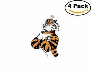 Exxon-Tiger-4-Stickers-4X4-inches-Sticker-Decal