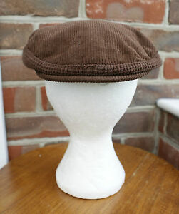 Vintage-Small-Mens-or-Childrens-Hat-Goodwood-Dark-Brown-Cordroy-Cap-Costume