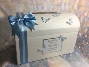 Mariposa-brillo-Personalizado-Boda-Aniversario-Cumpleanos-Regalo-Caja-de-correos