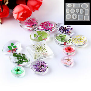12 silicone resin necklace mould craft diy tool pendant mold making image is loading 12 silicone resin necklace mould craft diy tool aloadofball Images