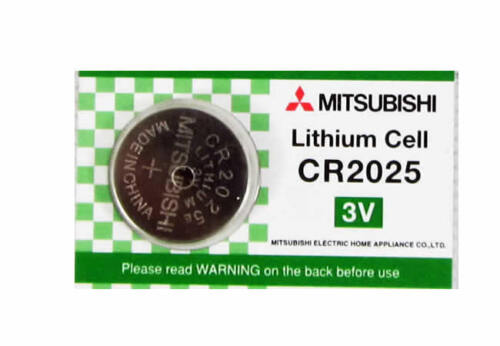 MITSUBISHI CR2025 3V LITHIUM CELL BUTTON COIN CELL BATTERIES DL2025 BR2025 2025