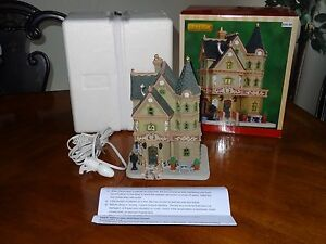 LEMAX 2013 Weatherford House Chistmas Village Porcelain Lighted Building EUC