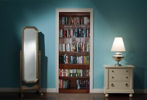 Door-Mural-Bookcase-Book-Case-Library-View-Wall-Stickers-Decal-Wallpaper-322