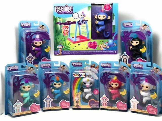 Authentic Fingerlings  Complete Set 8 WooWee Fingerling + Playset Same Day Ship