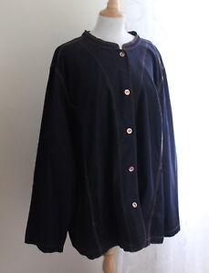 NWT-Liz-amp-Me-Sz-4X-30-32-Elegant-Dark-Denim-Artsy-Polished-Jean-Jacket