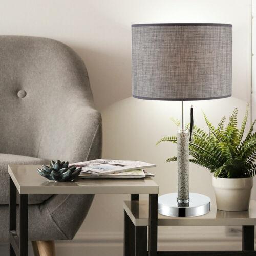 Textile Lampe de table Chrome Éclairage Debout Lampe Chambre Veilleuse