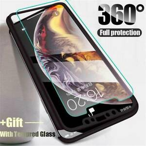 360° Full Protection Case Cover With Tempered Glass Film For iPhone 11 Pro Max X