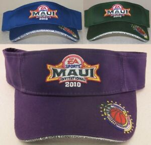 Image is loading 2010-EA-Sports-Maui-Invitational-Adjustable-Visor-Hat-