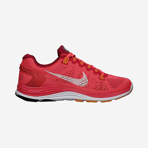 Women s Nike Lunarglide+ 5 Sz 5 Crimson White Mango 599395-601 FREE ... 369701f954