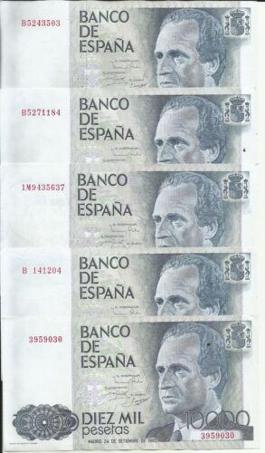 ONE NOTE SPAIN 10000 PESETAS 1985  P161 XF CONDITION VERY SCARCE 5RW 17GEN